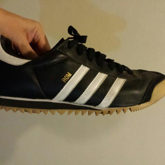 Used Adidas Rom Us Men S Size 12 Track Shoes 100 Authentic Men S Fashion On Carousell