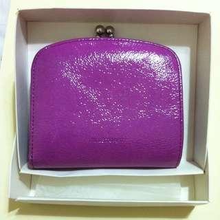 JILLSTUART handbag 紫色亮皮短夾 誠可議