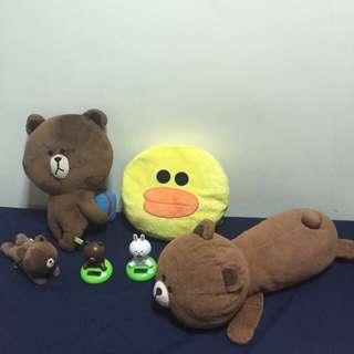 Stuffed Line Friends & Line Toys