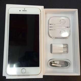 全新拆封品台灣公司貨 iphone 6 PLUS  5.5吋 128G 金色