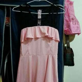 全新網紗點點氣質洋裝