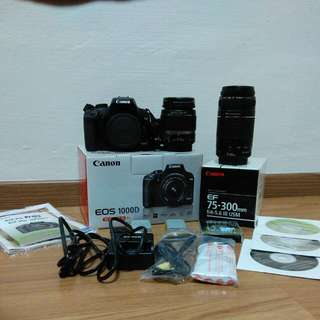 Canon EOS 1000D With 2 Kit Lens - Mint Condition