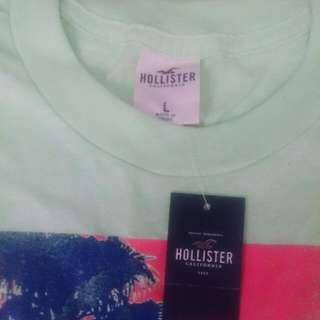 Hollister綠色熱情california字樣短袖T