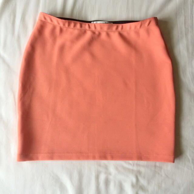降!!Forever21 珊瑚色貼身短裙