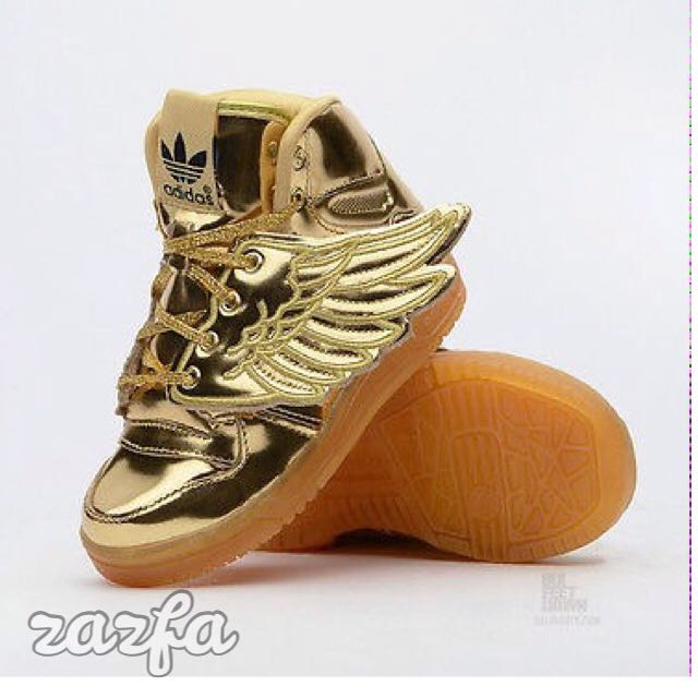 Original ADIDAS Jeremy Scott In Gold Shoes For Toddles