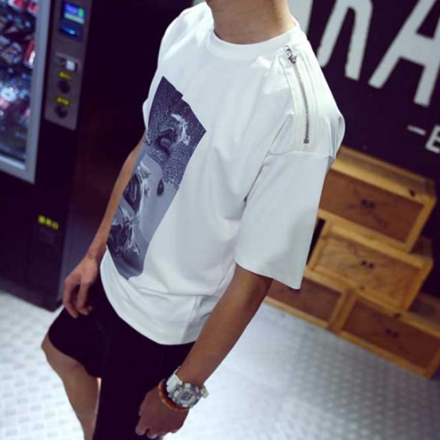 歐美風短袖天使T恤