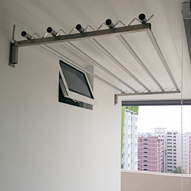 Laundry Room Wall Mounted Clothes Hanger