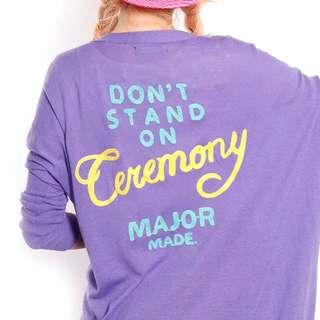 Major長版針織外套(紫)