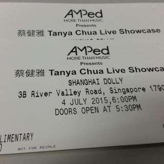 Tanya Chua Live Showcase Ticket