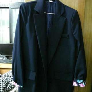 (全新)韓版墊肩西裝外套