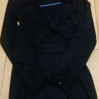 黑色超極瘦深v 包臀洋裝