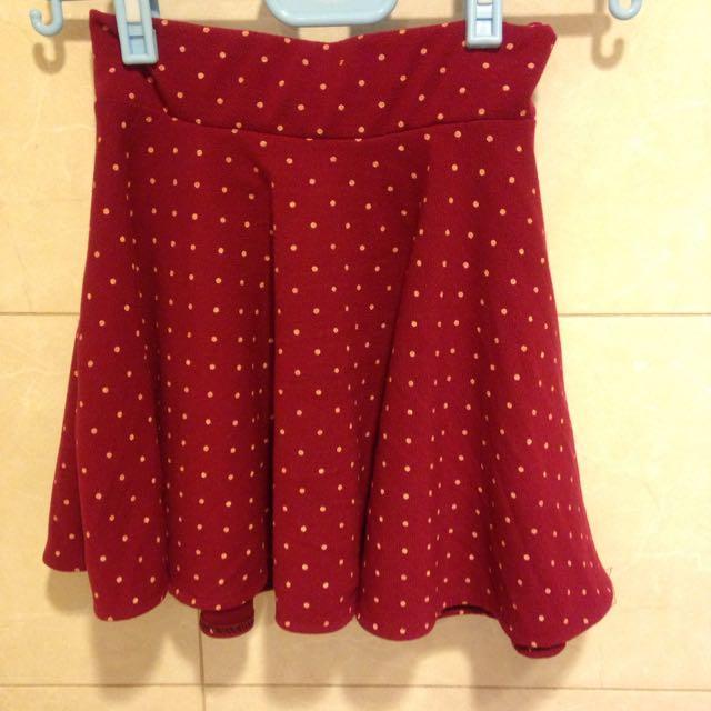 紅色點點裙