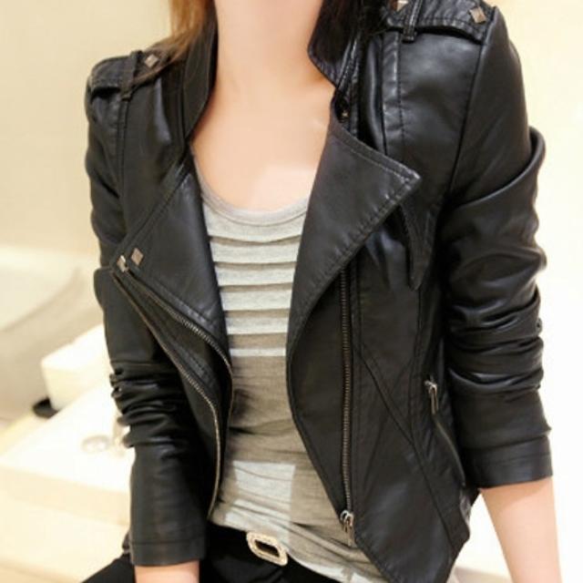 BRAND NEW!! PU Leather Black Jacket