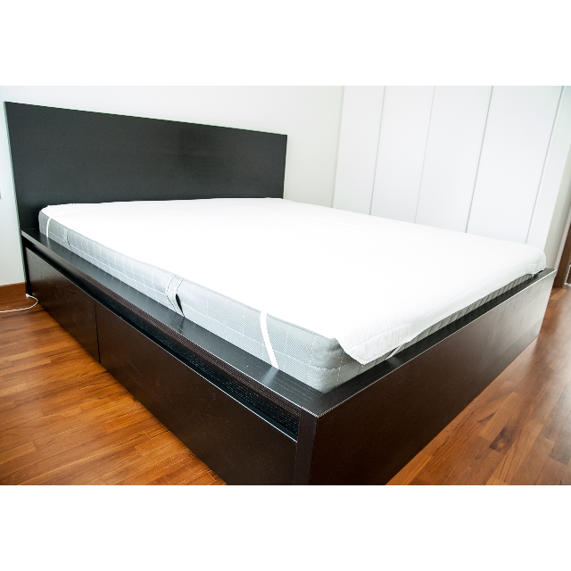 Ikea Bed Frame King Size Malm High W 4 Storage Bo Black Brown Luröy Furniture On Carou
