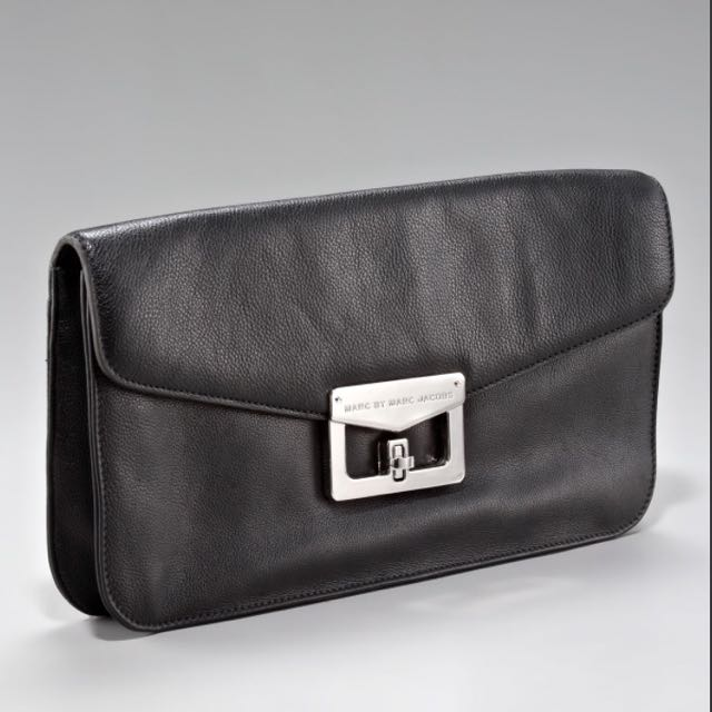 99ff59acd66 Marc by Marc Jacobs Bianca Oversized Envelope Clutch - Black, Luxury ...