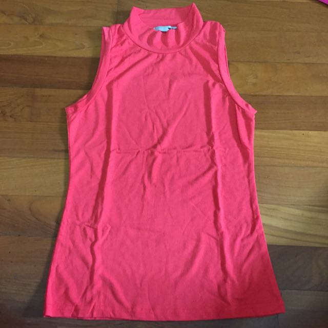 Turtleneck pink top