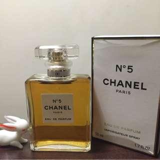 Chanel No5 香水 50ml 全新未使用 只有拆封拍照