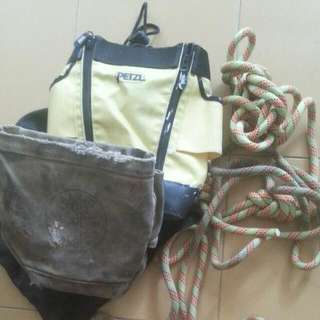 petzl. klein tool. beal rope