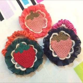 全新*草莓髮束🍓