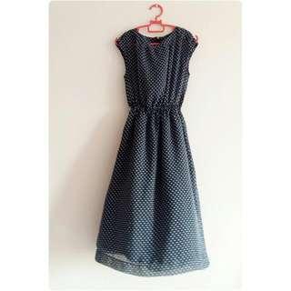 Vintage polka dot midi dress