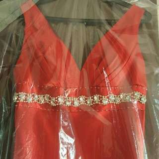 Red Long Evening Gown For Sales