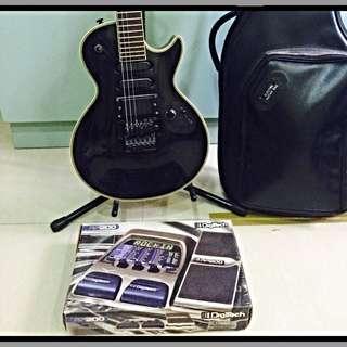 電吉它丶變音器丶音箱全組