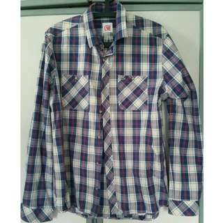 Lacoste Blue Checkered Shirt