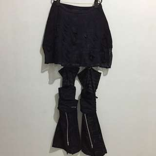 h.ANARCHY skirt w/ leg warmers