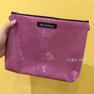 Bkk Original 泰國空運 正版 防潑水 粉紫 亮面 肩背包 側背包