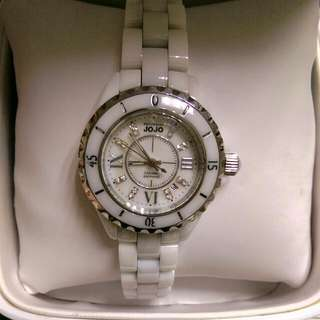 NATURALLY JOJO陶瓷錶(白色)