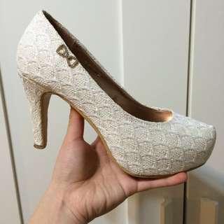 Ann's 蕾絲高跟鞋附鞋盒