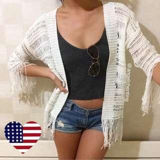 (保留)歐美波希米亞流蘇罩衫
