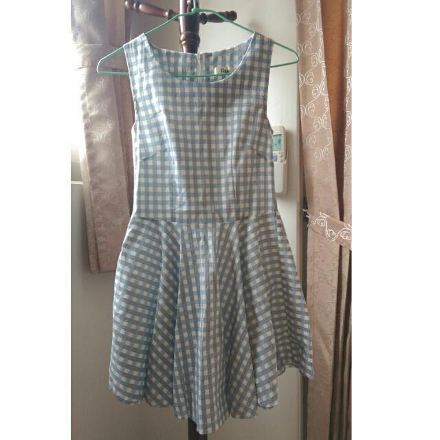 (全新)格子顯瘦洋裝💕
