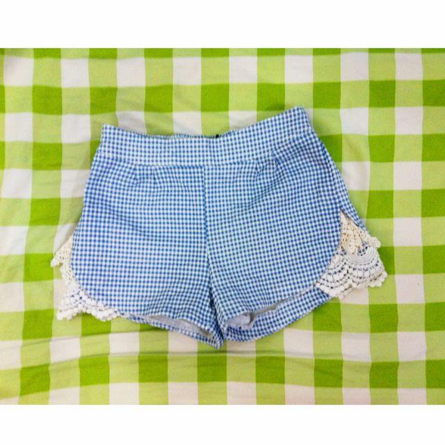 🐳藍色格子短褲🐳