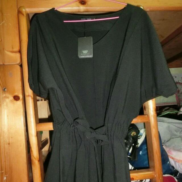 全新 Quine shop 購入 全黑小洋裝