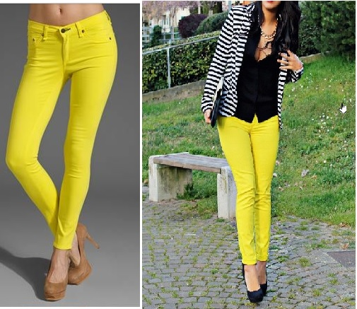 BRAND NEW!! Yellow Skinny Jeans