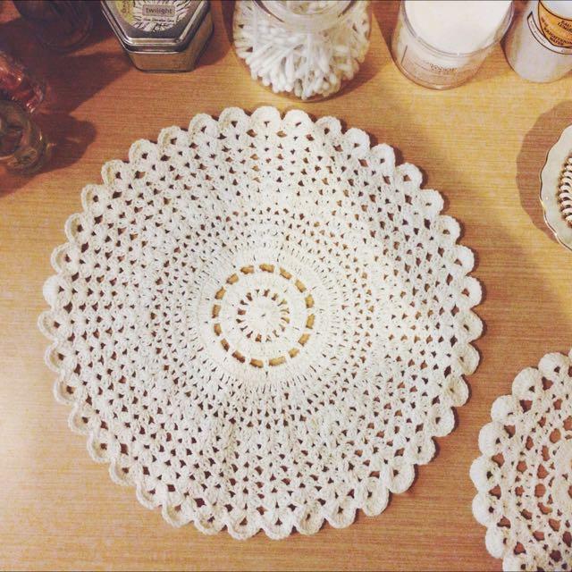 Big Round Crochet Table Mat Design Craft On Carousell