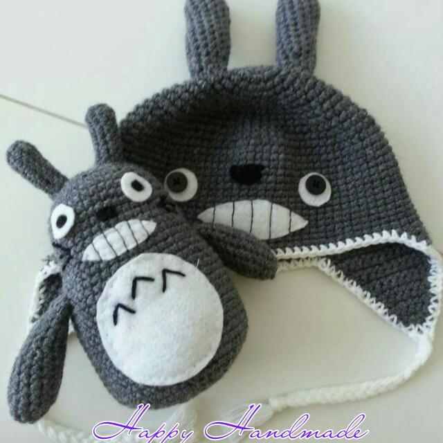 Crochet Totoro Cat Hat With Totoro Softies 24f54764a07