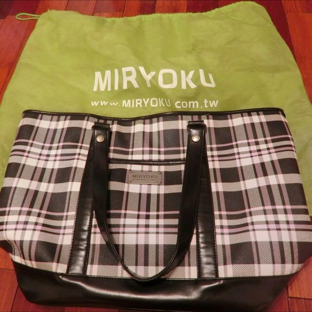 MIRYOKU格紋肩背包