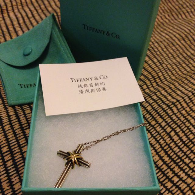 🉐Tiffany&co Cross 十字架 18K&925純銀