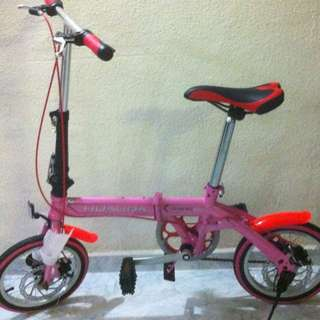"Brand New 14"" Folding Bike(ready Stock)"