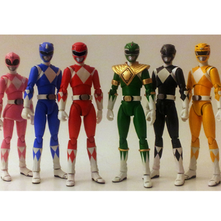 SHF MMPR 5 Power Rangers + White & Green (Jap)