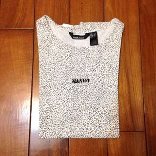 Mango 豹紋 T-shirt S Zara H&m Forever21 Hollister A&F Asos Crop Top Shop