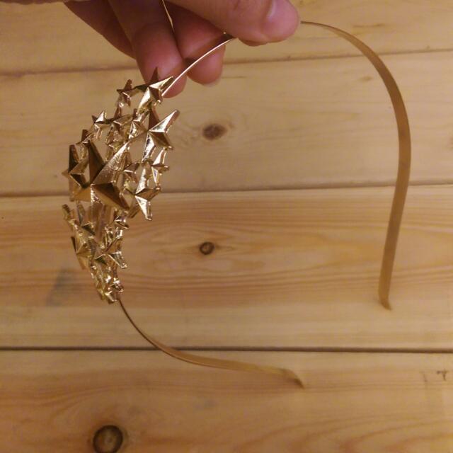 歐美感金色星星髮箍