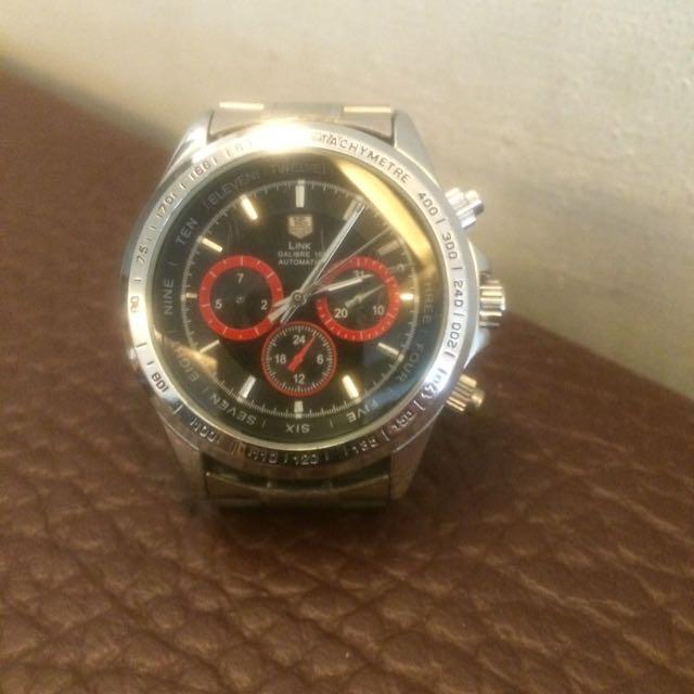 高級三眼機械錶—蝴蝶扣錶帶