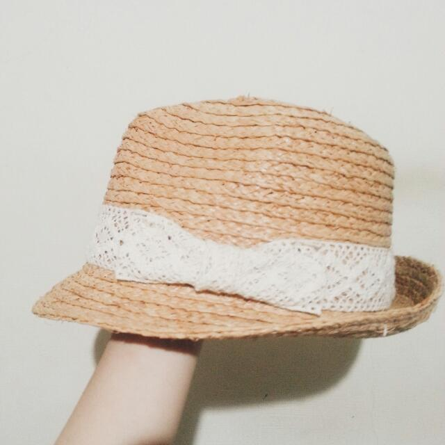 蝴蝶蕾絲草帽
