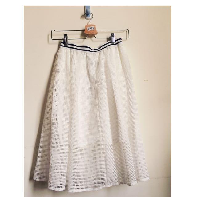 透視白色長裙
