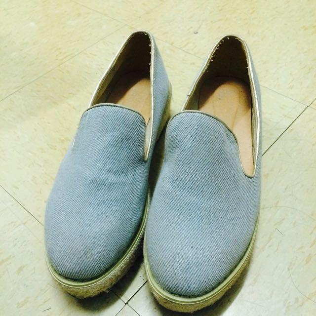 丹寧厚底鞋包鞋
