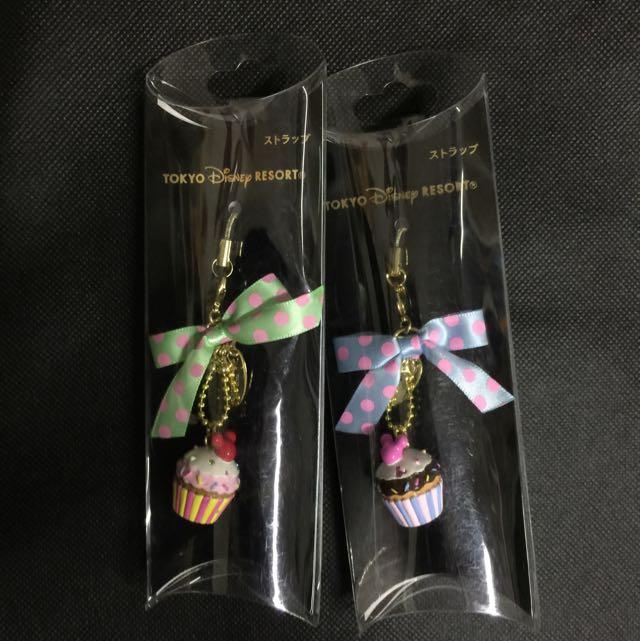 東京迪士尼 蛋糕蝴蝶結吊飾
