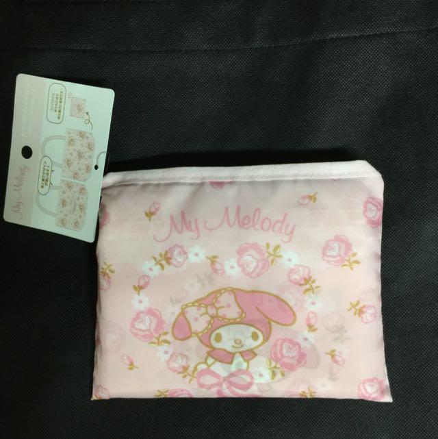 日本帶回 美樂蒂 Melody 粉紅玫瑰 購物袋